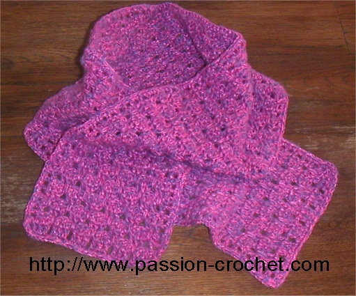 modele tricot echarpe simple