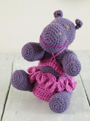 Hippo Amigurumi Patron : Traduction Amigurumi Hippo au crochet