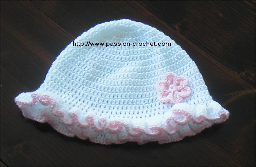 dbb29647ba5 Bonnet Au Crochet Pour Bebe