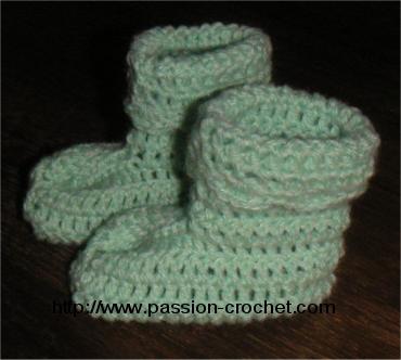 modeles de chaussons au crochet